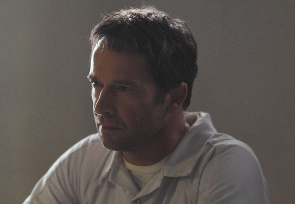"Joe Carroll (James Purefoy) gives instructions to his devotees in the ""The Siege"" episode of ""The Following."""