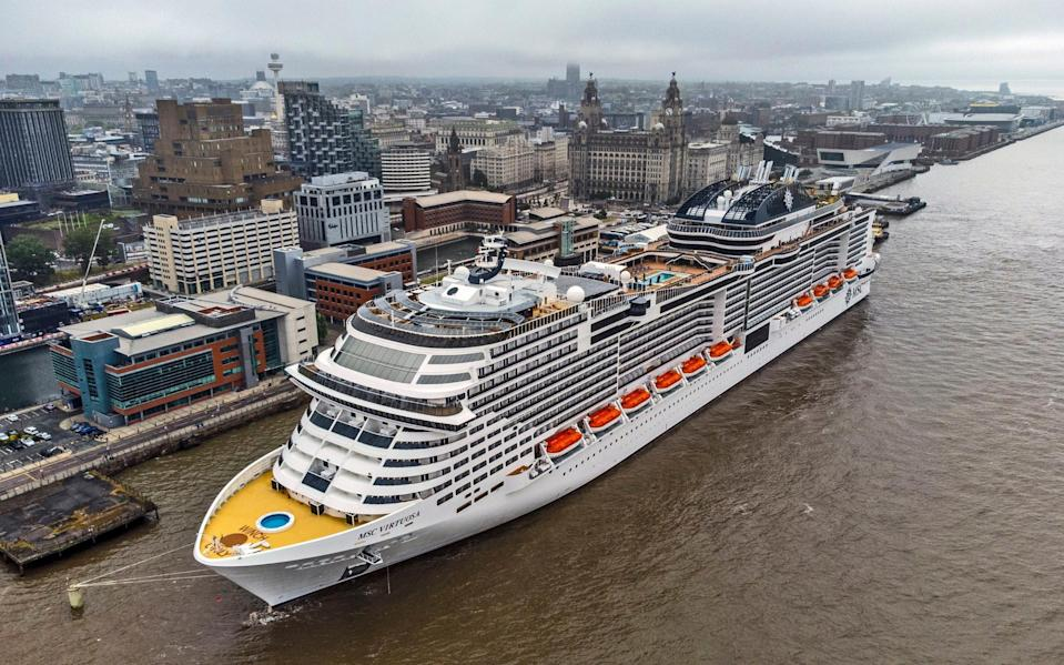 The liner is on a tour around the UK, due to Covid restrictions - PA
