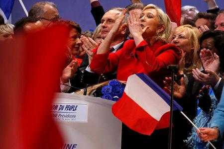 Vladimir Putin meets French far-right candidate Marine Le Pen in Moscow