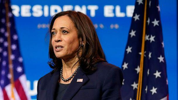 PHOTO: Vice President-elect Kamala Harris speaks about economic recovery at The Queen theater, in Wilmington, Del., Nov. 16, 2020. (Andrew Harnik/AP, FILE)