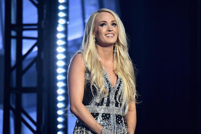 Carrie Underwood performs at the 53rd Academy of Country Music Awards in Las Vegas on April 15, 2018. (Photo by Jeff Kravitz/ACMA2018/FilmMagic for ACM)