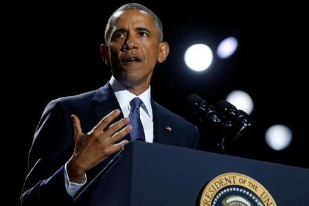 Obama delivers his farewell address in Chicago
