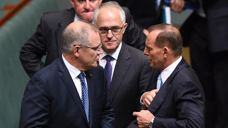 Scott Morrison has denied claims he joined Malcolm Turnbull in plotting against Tony Abbott.