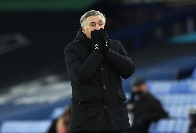 Carlo Ancelotti saw his side's winning run ended