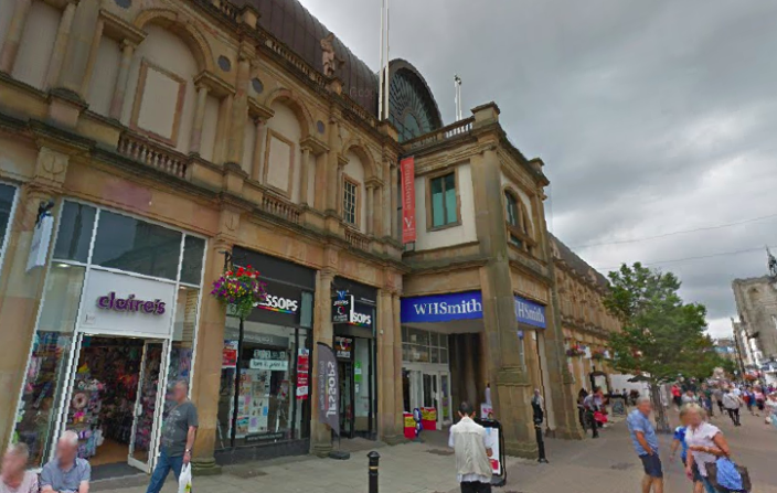 The attack took place outside Victoria Shopping Centre in Harrogate. (Google)