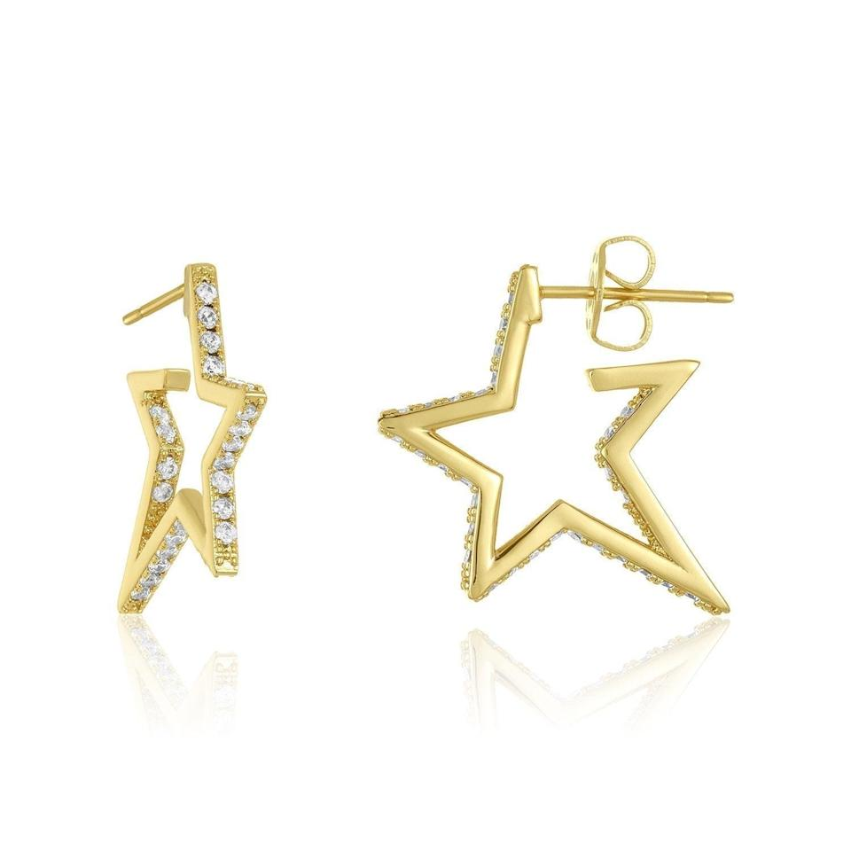 <p>These <span>Melinda Maria Caroline Pave Star Huggie Earrings</span> ($29, originally $68) are a cute twist on a classic hoop, and they'll be a winning gift.</p>
