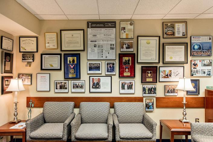 """Fauci's office at the National Institutes of Health in Bethesda, Md., on Sept. 10, 2020.<span class=""""copyright"""">Stefan Ruiz for TIME</span>"""