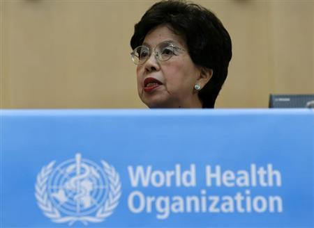 WHO Director-General Chan addresses the 66th World Health Assembly at the UN in Geneva