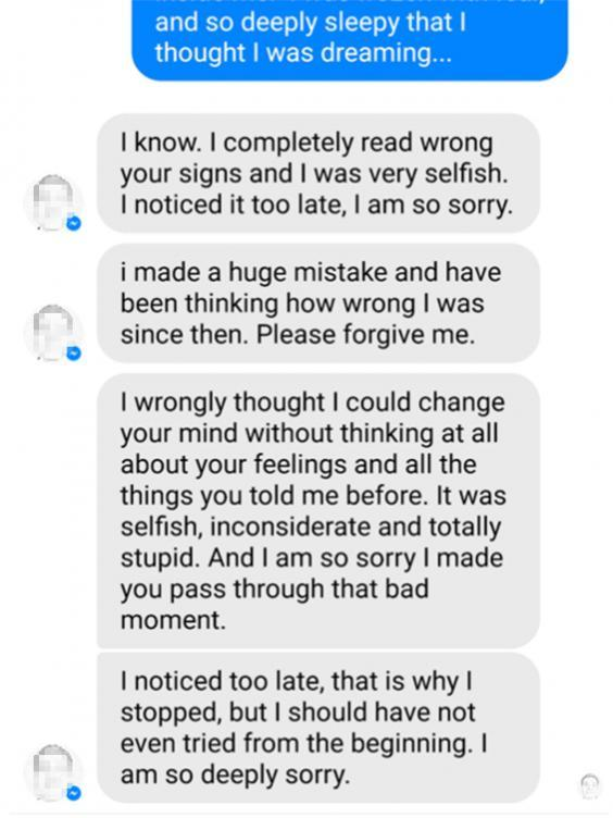 The Facebook messages continued