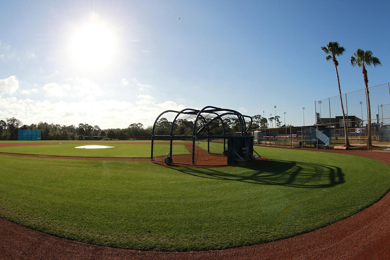 <p>The baseball fields before morning workouts at the New York Mets spring training facility at First Data Field in Port St. Lucie, Fla., Wednesday, March 1, 2017. (Gordon Donovan/Yahoo Sports) </p>