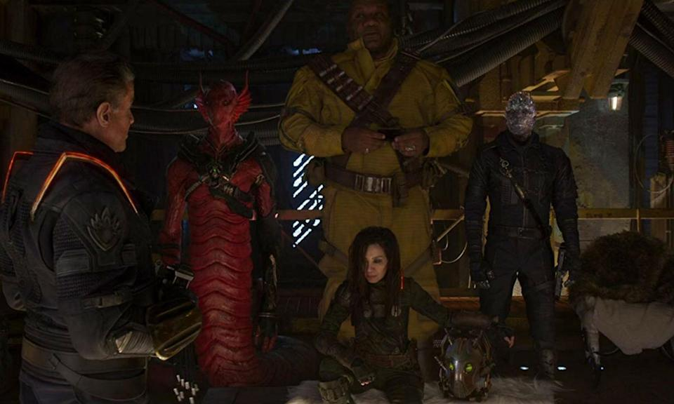 <p>Other big <em>Guardians of the Galaxy Vol. 2</em> cameos comes via the Ravager leaders who unite after Yondu's death. Stallone plays Stakar, Rhames plays Charlie-27, Yeoh plays Aleta, Cyrus can't be seen but she voices a line as Mainframe and Rosenberg as Martinex. </p>