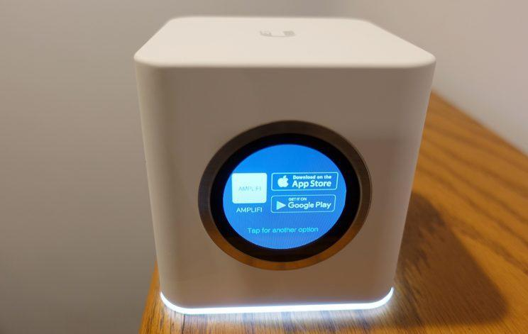 The Amplifi HD base station has a color touch screen—and sound effects.