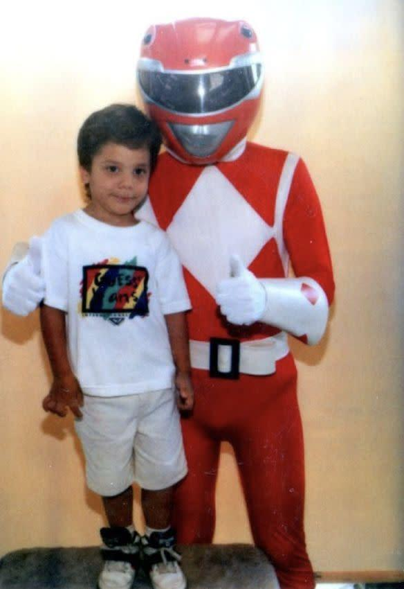"""The author and Jason from """"Power Rangers."""""""