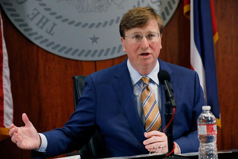 Mississippi Gov. Tate Reeves took time out of his coronavirus response to honor the Confederacy. (Photo: Rogelio V. Solis/Associated Press)