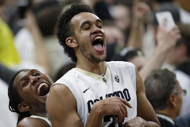"<a class=""link rapid-noclick-resp"" href=""/ncaab/players/122328/"" data-ylk=""slk:Derrick White"">Derrick White</a> is the only former Division II player invited to this week's NBA draft combine. (AP)"