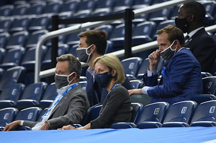 Detroit Lions owner and chairman Sheila Ford Hamp before a game against the New Orleans Saints at Ford Field, Oct. 4, 2020.