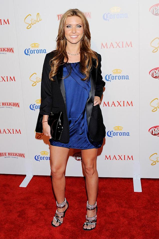 "Speidi's ""Hills"" costar Audrina Patridge donned one of this season's most popular trends: a tuxedo coat. Todd WIlliamson/<a href=""http://www.wireimage.com"" target=""new"">WireImage.com</a> - May 13, 2009"