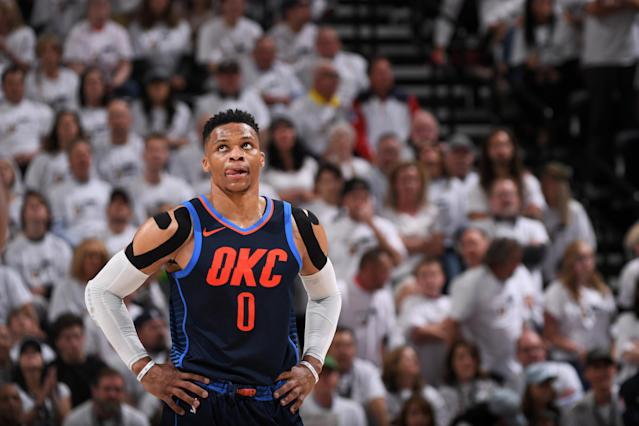 Russell Westbrook and the Thunder had another game to forget in Salt Lake City. (Getty)