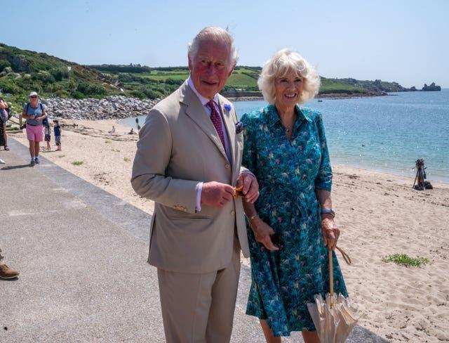 Charles and Camilla on the Isles of Scilly