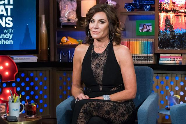 Luann de Lesseps on <em>Watch What Happens</em> <em>Live</em> on April 4. (Photo: Charles Sykes/Bravo/NBCU Photo Bank via Getty Images)