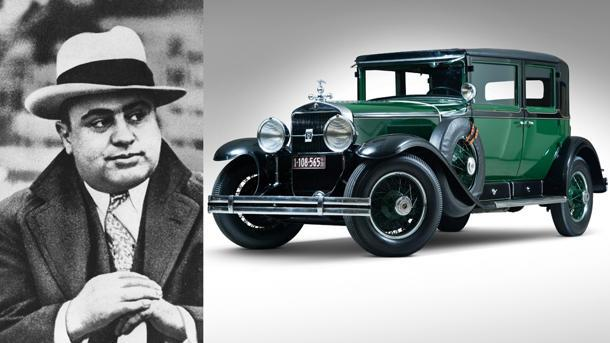 Al Capone's armored 1928 Cadillac with gunfight window up for ...