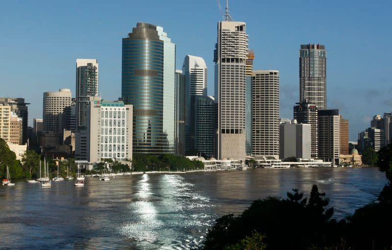 FILE PHOTO: The Brisbane River is seen flowing past the skyline of central Brisbane