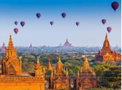 <p>This archeological area encompasses more than 2,000 Buddhist temples, pagodas and monuments that date back to the kingdom of Pagan in the ninth century.</p>