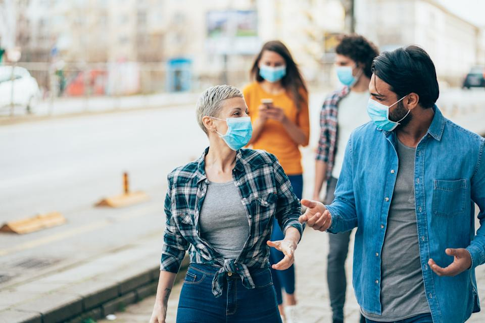 Wearing a face mask can make it harder to recognise emotions. (Getty Images)