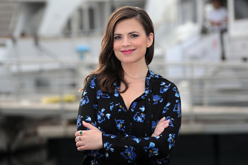 "Actress Hayley Atwell poses during a photocall for the television series ""Conviction"" during the annual MIPCOM television programme market in Cannes, France, October 17, 2016. REUTERS/Eric Gaillard"