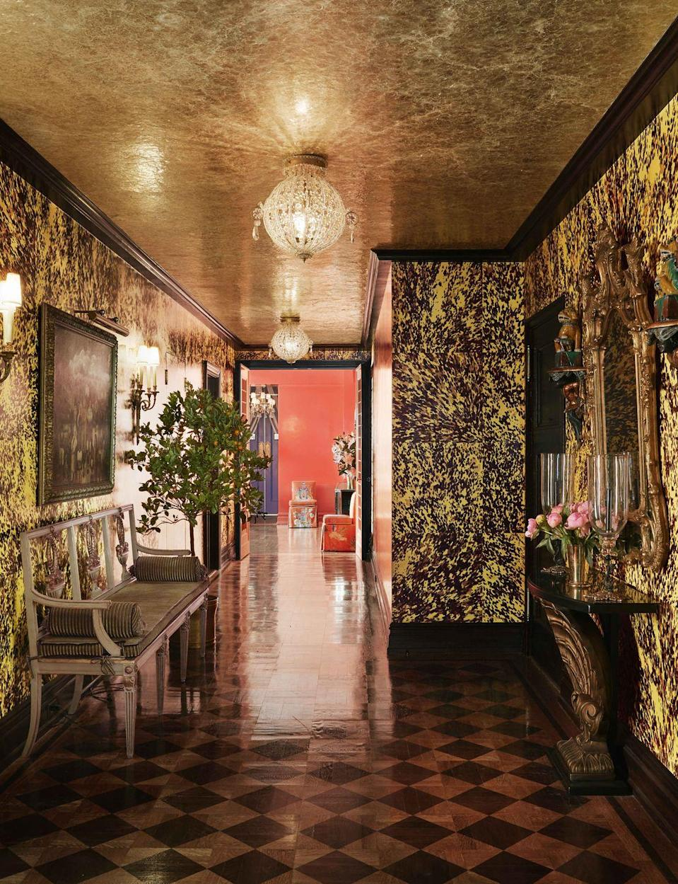 """<p>We've all been reminded this year that life's too short, so why wait to finally lacquer your dining room or wallpaper your home with that print you've been ogling for years? </p><p>Designer Marie Flanigan predicts that """"designers and homeowners won't shy away from interiors lavishly swathed in color,"""" whether it's a rich, saturated red or a funky jewel tone. Plus, with a rise in the highly curated """"grandmillennial"""" and """"cottagecore"""" aesthetics, the deman for floral-patterned wallpaper and murals painted in countryside scenes will likely only increase in the new year. Our current inspiration? <a href=""""https://www.veranda.com/decorating-ideas/house-tours/a34244505/chiqui-woolworth-nyc-apartment-tour/"""" rel=""""nofollow noopener"""" target=""""_blank"""" data-ylk=""""slk:This stunning, Upper East Side entry"""" class=""""link rapid-noclick-resp"""">This stunning, Upper East Side entry</a> designed by Chiqui Woolworth. </p><p>""""Home has become our 'everything' space right now,"""" says Manhattan-based designer <a href=""""https://www.philipgorrivan.com/"""" rel=""""nofollow noopener"""" target=""""_blank"""" data-ylk=""""slk:Phillip Gorrivan"""" class=""""link rapid-noclick-resp"""">Phillip Gorrivan</a>. """"I see more interiors with authenticity and narrative as well as spaces with color, pattern and playfulness as the next trend. Color and pattern are one way to tell a unique story, and also lift up our moods and spirits. I think designers and homeowners alike will seek ways to make their interiors more unique. Interiors will need to speak to the inhabitants and tell a story.""""</p>"""