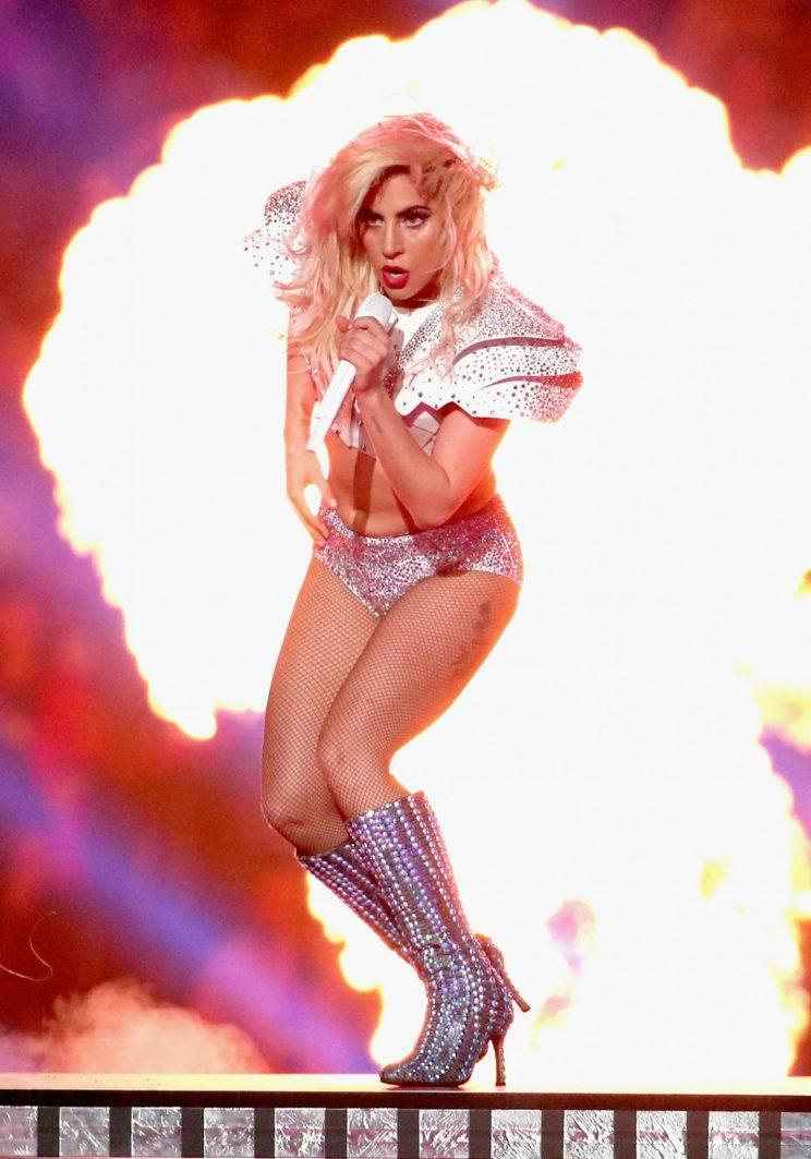 <i>Lady Gaga was slammed for showing some flesh during her Super Bowl show [Photo: Getty]</i>