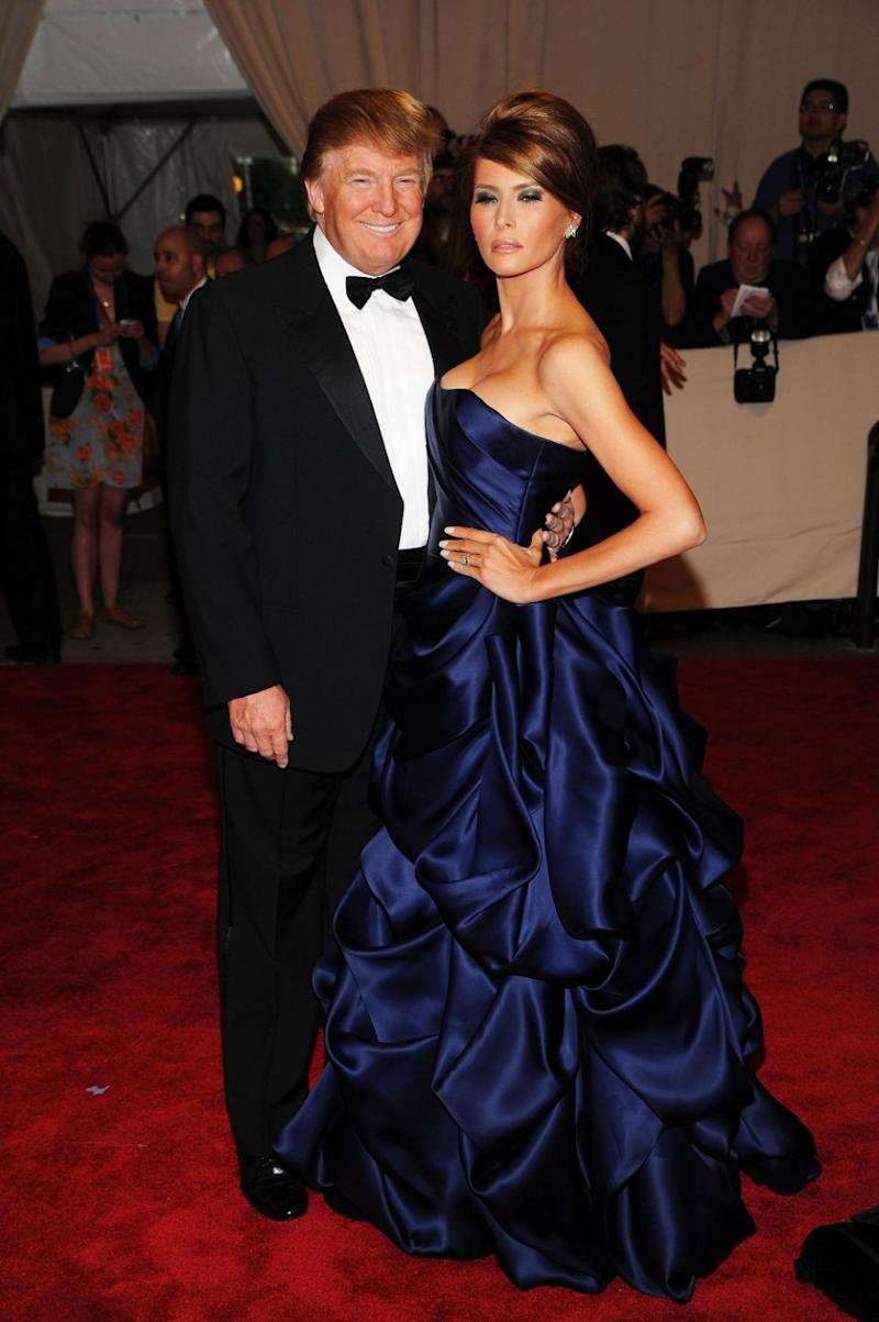 And with Melania at the 2010 Met Gala. Photo: Getty Images
