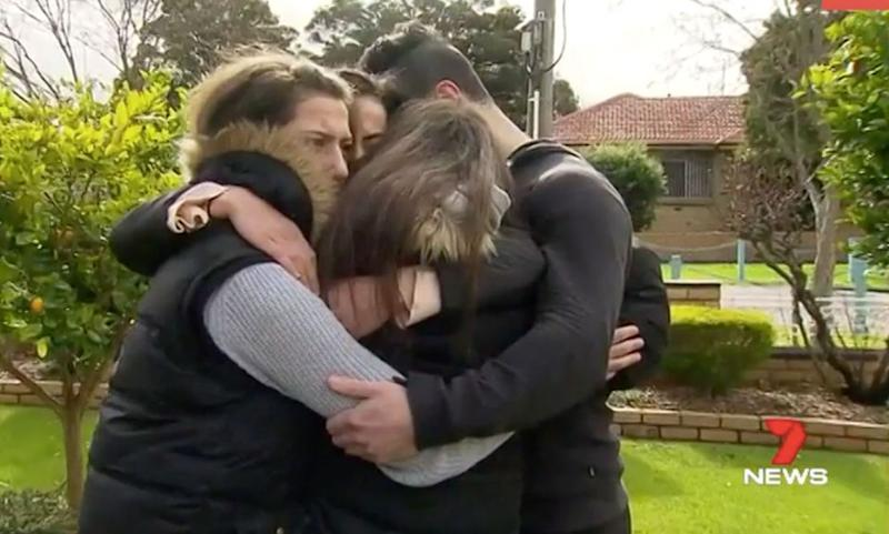 Her devastated family. Source: 7 News