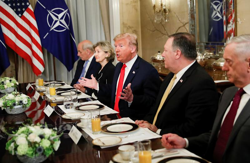 One wonderful  photo with Trump and North Atlantic Treaty Organisation  leaders says it all