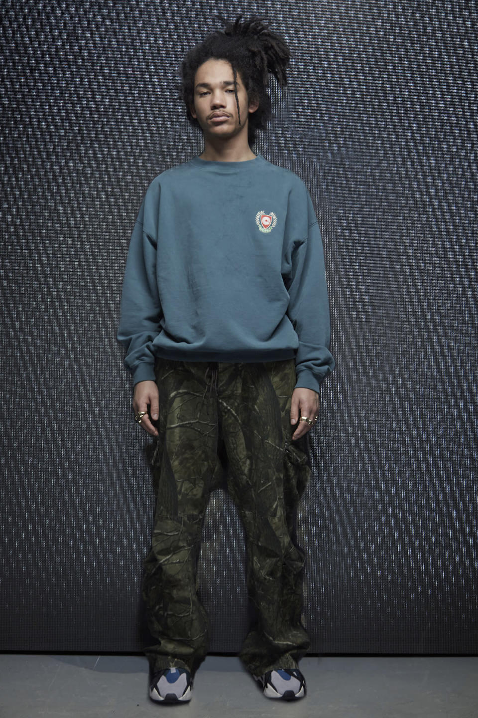 <p>For his Season 5 presentation, Kanye West tapped male model Luka Sabbat and his dreadlocked hair. (Photo: Yeezy). </p>