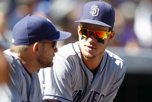 "<a class=""link rapid-noclick-resp"" href=""/mlb/players/8859/"" data-ylk=""slk:Wil Myers"">Wil Myers</a> apologized on Monday after he was heard bashing <a class=""link rapid-noclick-resp"" href=""/mlb/teams/sdg"" data-ylk=""slk:San Diego Padres"">San Diego Padres</a> manager Andy Green on a live Fortnite stream last week. (Photo by Russell Lansford/Getty Images)"