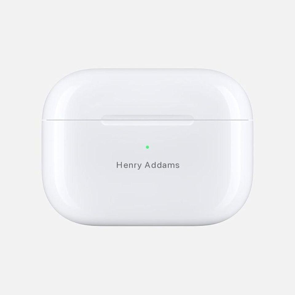"""<p><strong>Apple</strong></p><p>apple.com</p><p><strong>$249.00</strong></p><p><a href=""""https://go.redirectingat.com?id=74968X1596630&url=https%3A%2F%2Fwww.apple.com%2Fshop%2Fproduct%2FMWP22AM%2FA%2Fairpods-pro&sref=https%3A%2F%2Fwww.bestproducts.com%2Flifestyle%2Fg27420749%2Fengraved-gifts%2F"""" rel=""""nofollow noopener"""" target=""""_blank"""" data-ylk=""""slk:Shop Now"""" class=""""link rapid-noclick-resp"""">Shop Now</a></p><p>One of the <a href=""""https://www.bestproducts.com/lifestyle/g376/top-christmas-gift-ideas/"""" rel=""""nofollow noopener"""" target=""""_blank"""" data-ylk=""""slk:hottest gifts of 2020"""" class=""""link rapid-noclick-resp"""">hottest gifts of 2020</a>, the case included with your AirPods Pro can be engraved when <a href=""""https://go.redirectingat.com?id=74968X1596630&url=https%3A%2F%2Fwww.apple.com%2Fshop%2Fengraving-and-gift-wrap&sref=https%3A%2F%2Fwww.bestproducts.com%2Flifestyle%2Fg27420749%2Fengraved-gifts%2F"""" rel=""""nofollow noopener"""" target=""""_blank"""" data-ylk=""""slk:purchased directly through Apple"""" class=""""link rapid-noclick-resp"""">purchased directly through Apple</a>. </p><p>These earbuds are totally on your recipient's wish list already, and the added thought of personalizing them will make this present even sweeter.</p>"""