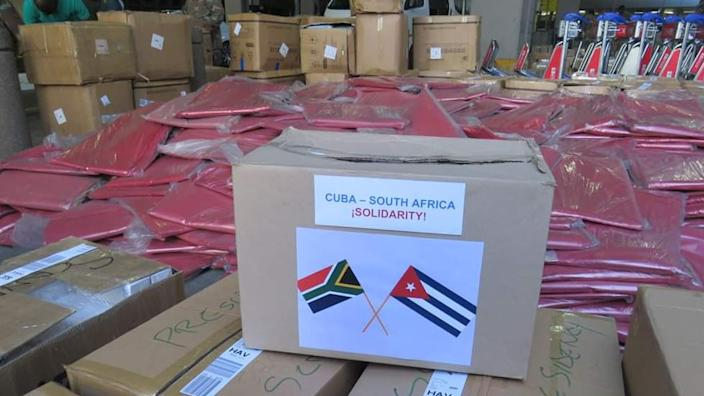 South Africa has sent protective gear and other supplies for Cuban health facilities