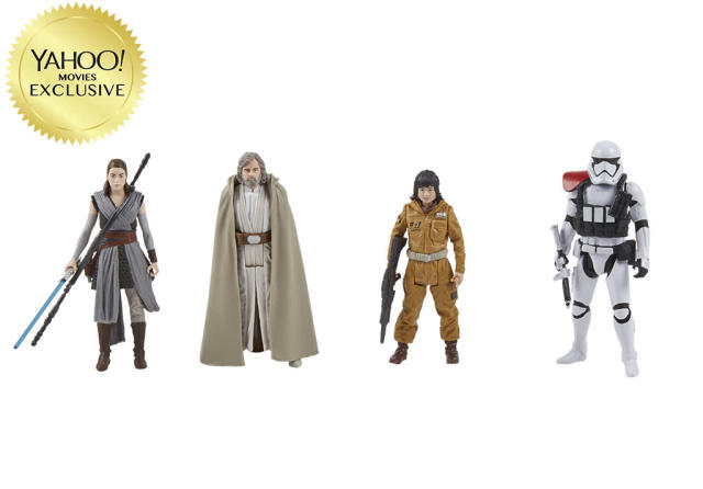 <p>Includes Rey (Jedi Training), First Order Stormtrooper Officer, Luke Skywalker (Jedi Master), and Resistance Tech Rose figures. Force Link accessory (sold separately) activates an array of lights, sounds, and figure phrases specific to each character. $49.99/Kohl's exclusive (Photo: Hasbro) </p>