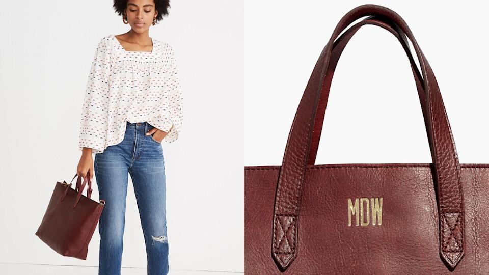 Best personalized gifts: Madewell Zip-Top Transport Tote