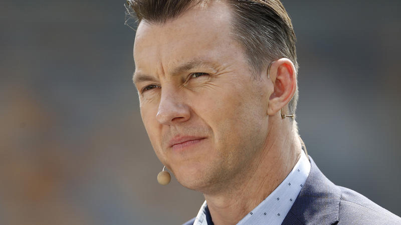 Brett Lee, pictured here in action as a cricket commentator.