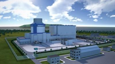 Artist's rendering of a nuclear power plant using a Westinghouse AP1000 reactor  Courtesy: Westinghouse Electric Company