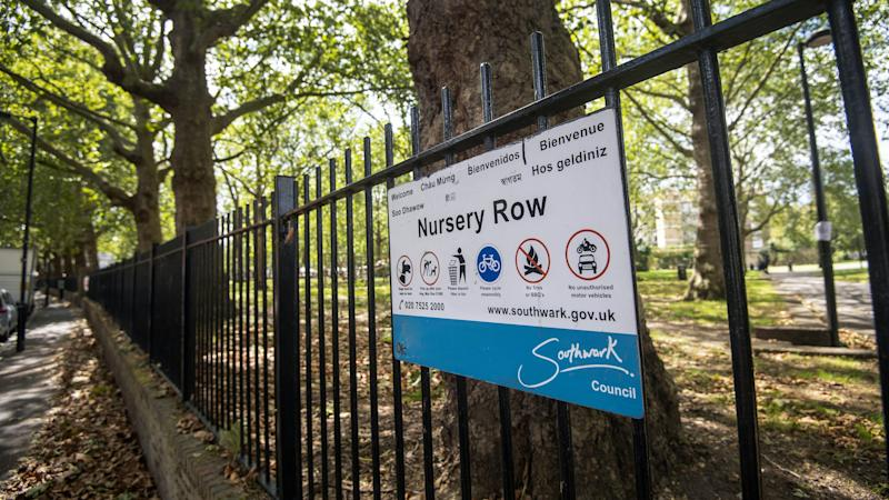 Man stabbed in front of children in London park