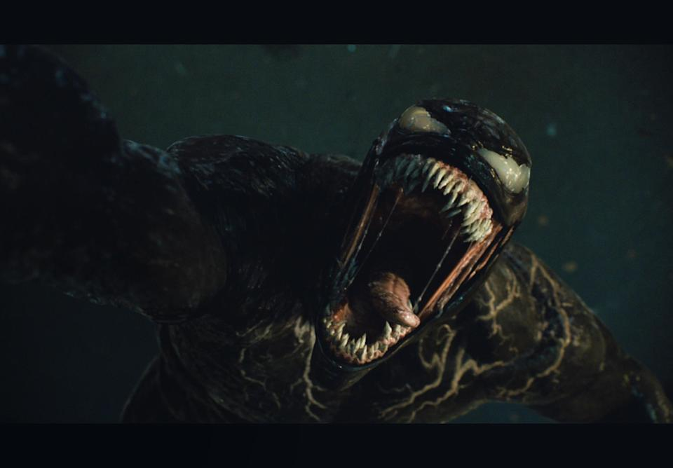 Venom in Venom: Let The Be Carnage. (©2021 CTMG. All Rights Reserved. MARVEL and all related character names: © & ™ 2021 MARVEL)
