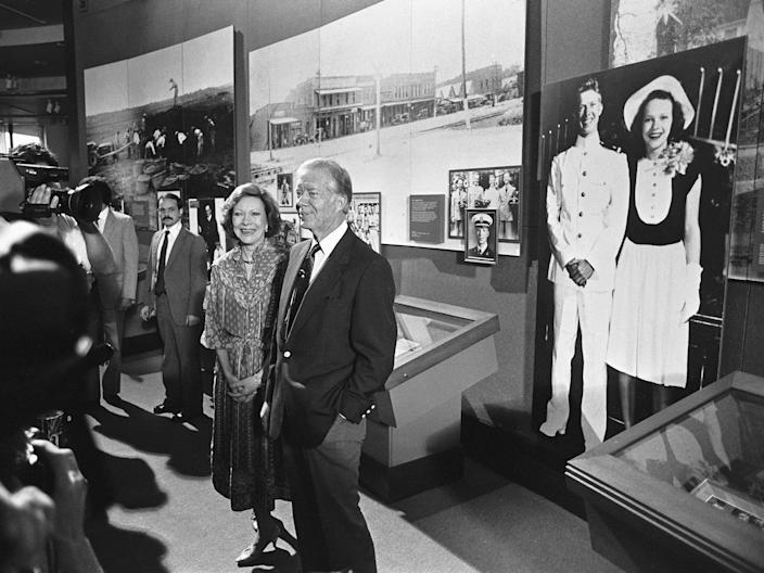 Jimmy and Rosalyn Carter at the Carter Presidential Center.