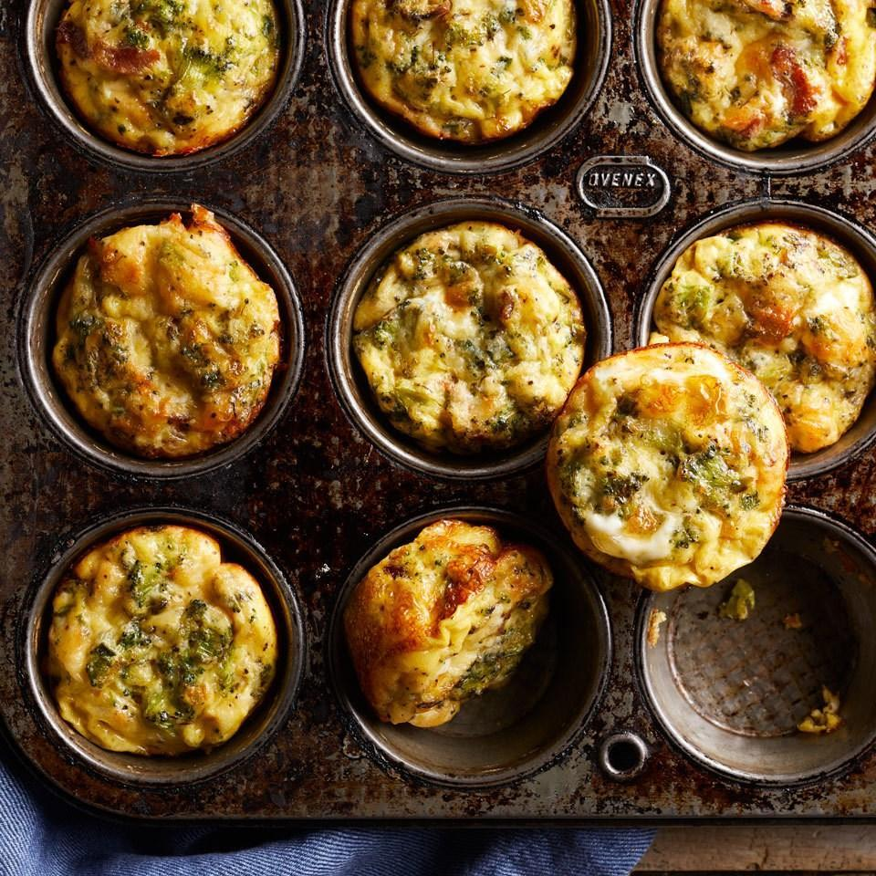 <p>Protein-packed omelet muffins, or baked mini omelets, are a perfect breakfast for busy mornings. Make a batch ahead and freeze for the days when you don't have time for your typical bowl of oatmeal. You can also serve these fresh with fruit salad for a simple weekend brunch.</p>