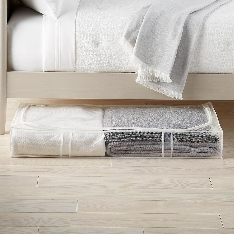 <p>This <span>Peva Under Bed Storage Bag</span> ($12) is great if you want something you can see through.</p>