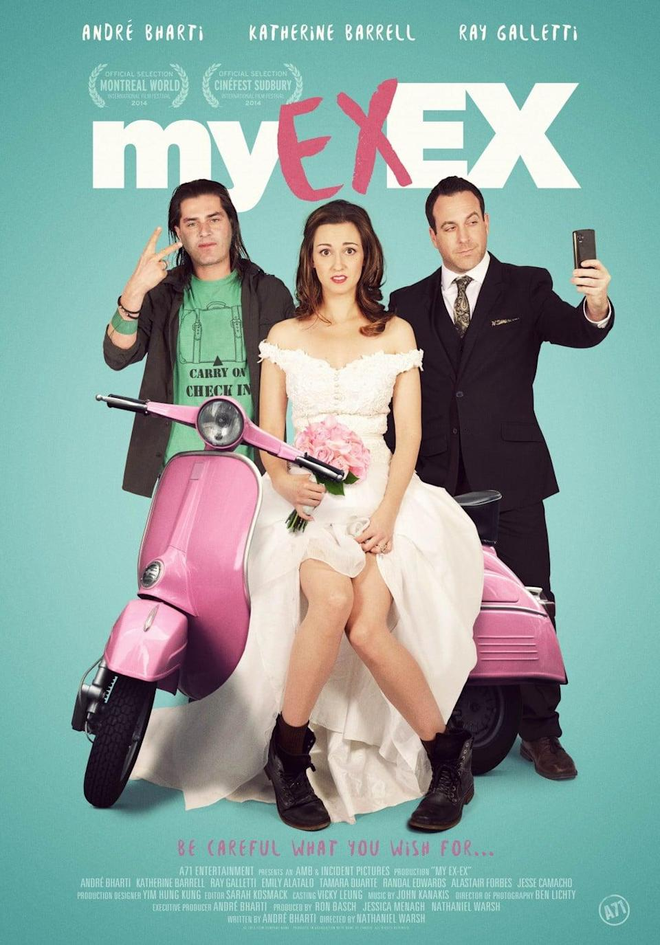 """<p>The goofy romantic comedy <strong>My Ex-Ex</strong> follows the story of a jilted woman named Mary who gets in touch with a psychic to win back the affections of her ex-boyfriend. In a dramatic turn of events, Mary must choose between her recent beau and her college boyfriend. </p> <p>Watch <strong> <a href=""""http://www.netflix.com/title/80163191"""" class=""""link rapid-noclick-resp"""" rel=""""nofollow noopener"""" target=""""_blank"""" data-ylk=""""slk:My Ex-Ex"""">My Ex-Ex</a> </strong> on Netflix now.</p>"""