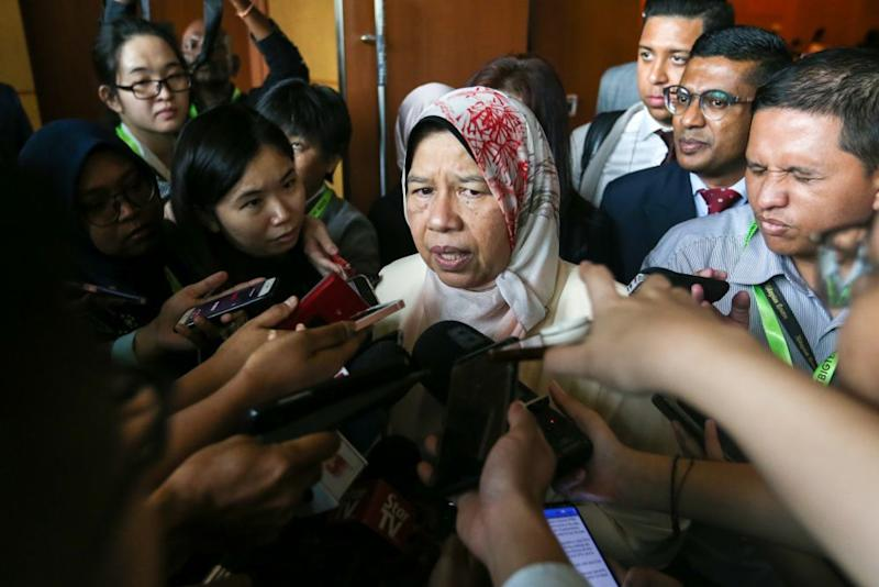 Housing and Local Government Minister Zuraida Kamaruddin told reporters at an event recently that she intended on proposing her idea to the Cabinet in an attempt to address the glut of high-end property in Malaysia. — Picture by Firdaus Latif