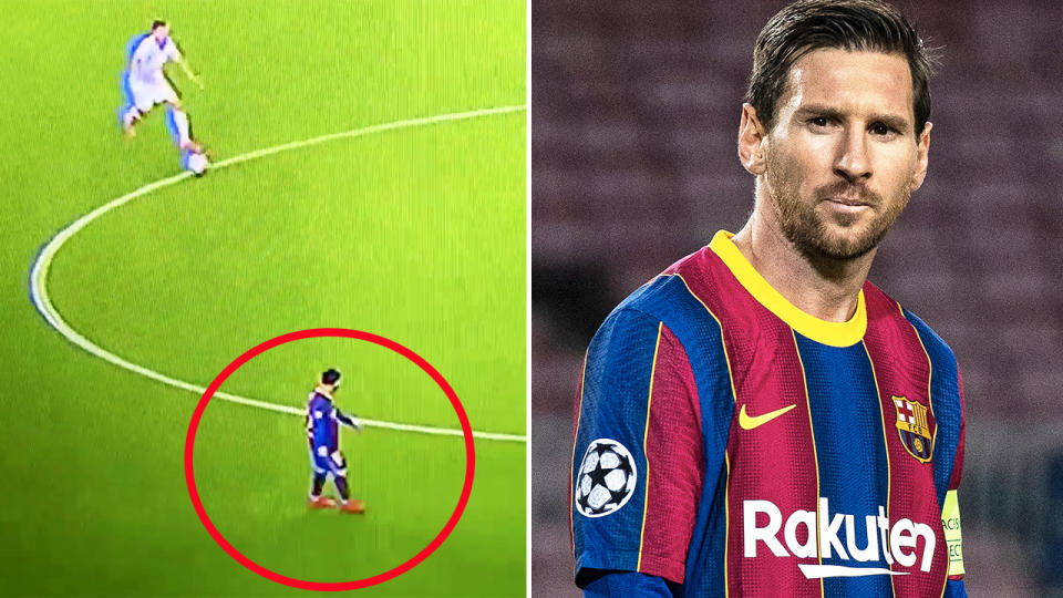 Lionel Messi, pictured here in action in the Champions League.